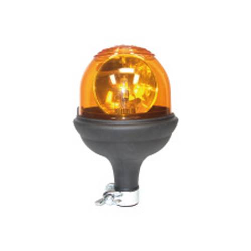 Gyrophare tournant Zenith - Sur tige flexible - orange - 12V - Economique