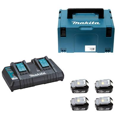 Pack énergie Makita 4 batteries 18 V 6 Ah