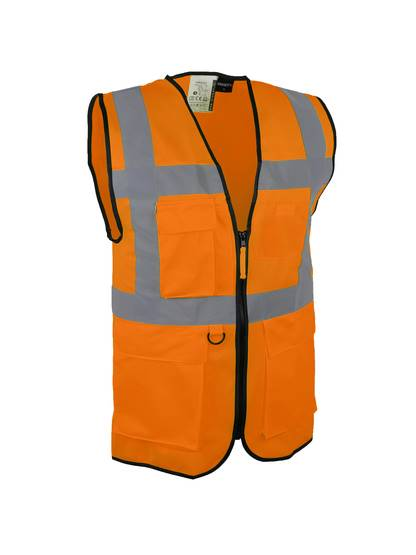 Gilet de visualisation Multi-poches - orange fluo - CL.2 - XL - Singer